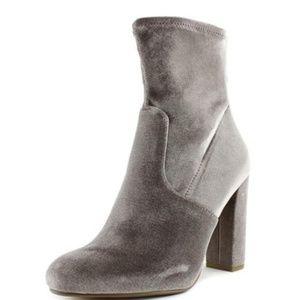 Grey Velvet Steve Madden Ankle Sock Bootie NWOT